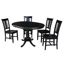 International Concepts Black 36 Inch Curved Base Dining Table With