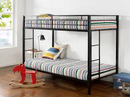 best bunk beds zinus easy assembly quick lock twin over twin classic metal bunk bed