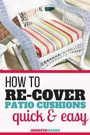 diy patio furniture cushions diy
