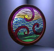 round stained glass window textures round sun sea grass stained glass window alpha texture full perm