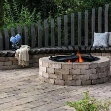 Fire Pit Kit Belgard Dimensions Outdoor Kitchens And Fireplaces