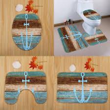 image is loading 3piecenauticalanchorbathmatbathroomrug contour bath rug84
