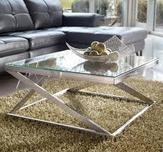 Full Size Of Coffee Table:wonderful Glass And Chrome Coffee Table Silver Glass  Coffee Table ...