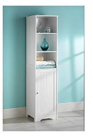 white bathroom storage cabinets. Bathroom Furniture Tall Boy Cupboard Floor Shelf Storage Cabinet White New England Style Cabinets T