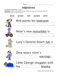 Adjectives Worksheets for Grade 1 Free | Homeshealth.info
