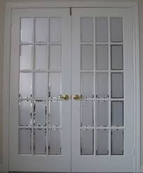 interior french doors with decorative frosted glass panels