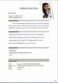 Effective Resume Format Magnificent International Resume Format Free Download Resume Format Cv