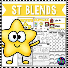 Check out our collection of printable phonics worksheets for kids. St Blends Worksheet Teachers Pay Teachers