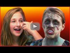 easy zombie makeup tutorial for kids by kids ping baby having fun