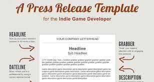 Simple Press Release Template A Press Release Template Perfect For The Indie Game Developer