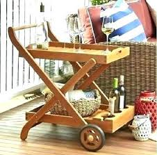 outdoor storage cart with wheels serving on patio rolling impressive