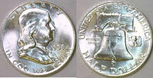 1959 Franklin Half Dollar Value Chart Half Dollar 1959 Usa Franklin Choice Bu Full Bell Lines
