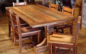 decoration interior rustic dining room table sets shabby white solid wood chair reclaimed round brown
