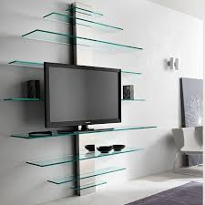 tonelli mondovisione glass tv wall shelving unit panik design regarding tv with shelves inspirations 12