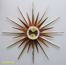 mid century modern starburst wall clock by forestville atomic fireworks starburst modern 1960s hanging clock