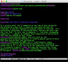 Фетиш latex или Не пишите в latex Он только для вёрстки Хабрахабр Редактирование latex в emacs 22 с преднамеренной ошибкой