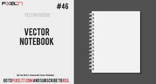 daily freebie vector notebook
