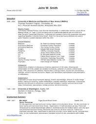 Medical School Resume Format Perfect Physician Curriculum Vitae