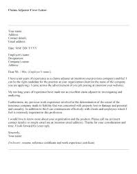 Cover Letter For Claims Adjuster Claims Adjuster Cover Letters