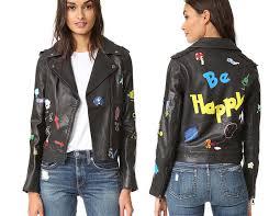 trendy moto jackets for 2016 2017 mira mikati hand painted biker jacket