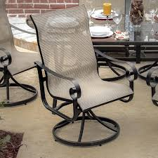 La Salle 9 Piece Sling Patio Dining Set With Swivel Rockers And ...