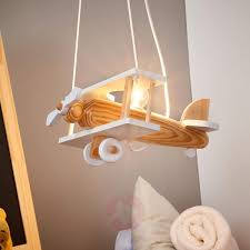 Airplane Pendant Light Wooden Aeroplane Ceiling Light Wooden Lamp Wood Lamps