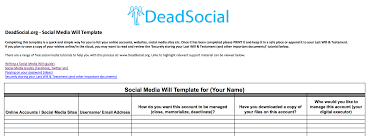 prepare for death digitally build your digital   social media will template