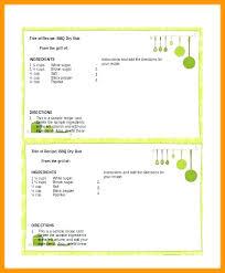 Food Recipe Template Cookbook Template For Word Recipe Card