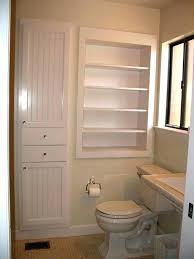 built in bathroom shelf ideas sightly built in bathroom shelves delightful tall built bathroom recessed shelving