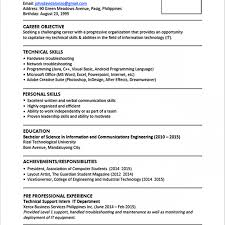 international format of cv resume template sample efficient imagine perfect resumes examples