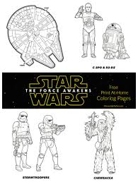 Small Picture The Force Awakens Star Wars Free Coloring Pages For Your