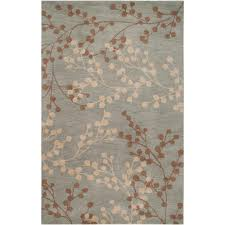 home decorators collection blossoms blue 9 ft x 12 ft area rug bls2600 912 the home depot