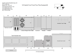 food truck floor plans 18 foot food truck floor plan step vans food truck floor plans schematics and layouts for apollo food trucks