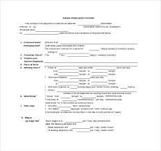 Outstanding Employment Contract Template Free Download Vignette ...