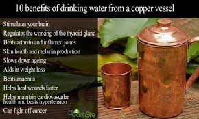 benefits of drinking water d in copper