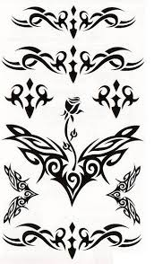 Verashop Nalepovací Tetování Ornamenty
