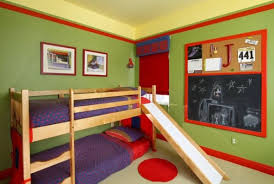 kids bedrooms with bunk beds. Beautiful Kids View In Gallery Small Bunk Bed With A Slide Colorful Kidsu0027 Bedroom In Kids Bedrooms With Bunk Beds R