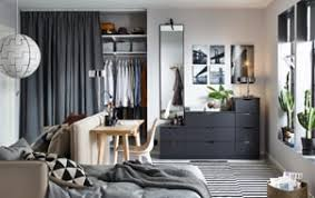 furniture small bedroom. Anthracite NORDLI Chest Of 9-drawers Against A Back Wall In Small Living Space Furniture Bedroom M