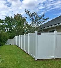 Vinyl privacy fences Backyard Hamilton Standard Vinyl Privacy Fence Shown In White Superior Fence Vinyl Fence Company Vinyl Fence Supply And Installation