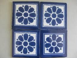 Blue And White Decorative Tiles Reeso Tiles 100PW100 Talavera Decorative Tile on Pure White 29