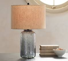 Glass Base Table Lamps Simple Alana Luster Glass Table Lamp Base Indigo Pottery Barn