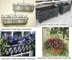 wrought iron planters wrought iron wall