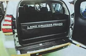 2018 toyota land cruiser prado. plain toyota 2018 toyota land cruiser prado facelift luggage protector spy shot for toyota land cruiser prado 1