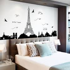 home decor eiffel tower pvc removable wall stickers in black sammydress com