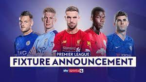 premier league fixture announcement