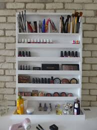 xtra large makeup organizer - nail polish rack - wall hanging - many  colours available - bathroom storage - rangement maquillage