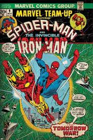 marvel comics retro style guide spider man iron man on marvel comics wall art uk with marvel comics retro style guide spider man iron man art print at