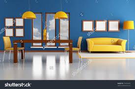 Orange And Blue Living Room Blue Ed Orange Living Room Stock Illustration 72354925 Shutterstock