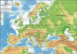 physical map of europe ezilon maps within geography