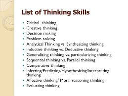 Thinking skills   analytical  critical and creative thinking The Peak Performance Center Creative vs critical thinking essay